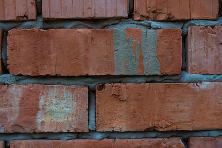 Red brick wall as background and texture Stock fotó