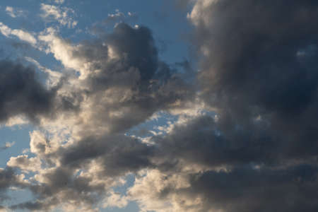 Clouds in the sky as background or texture