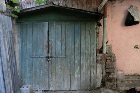 Old wooden barn as background or texture