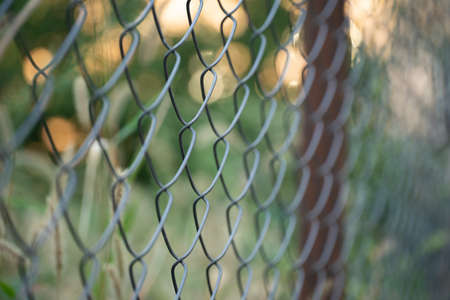 Metal mesh as a fence and enclosure