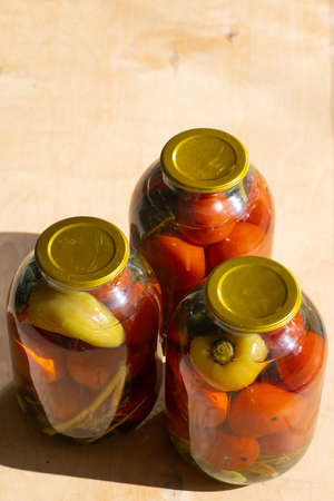 Pickles in bollons prepared for the winter