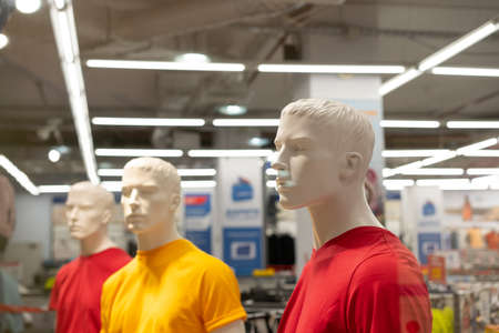 Mannequins installed in the store