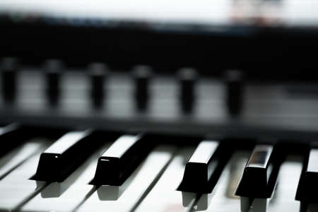 Piano keys with volume control