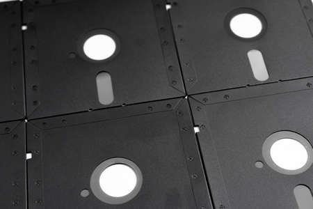 Floppy disks as background or texture Imagens