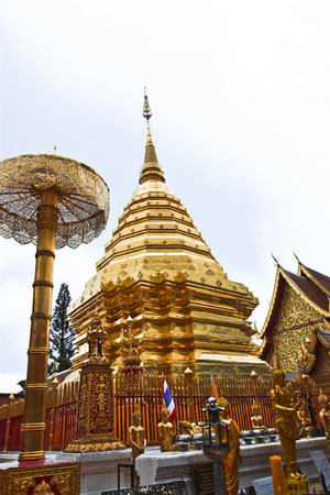 revere: One of the most revere stupa of Thailand, in Chiang Mai province Stock Photo