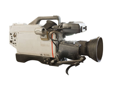 Old camera isolated on white  photo
