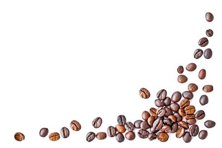 arranged: Isolate coffee bean with arranged in frame shape