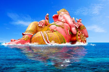 ganesh: Ganesha, dios hindú y el dios del éxito Foto de archivo