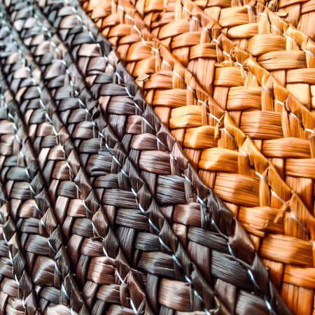creative: Texture background on basket handmade