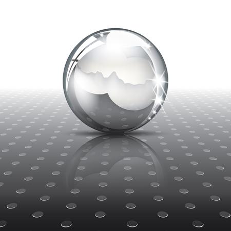 Metal ball on texture Illustration