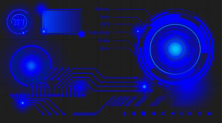 Desktop interface Illustration