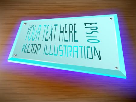 Etichetta acrilica Decorazione luminosa a LED sull'etichetta.