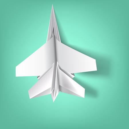 Symbol of the war in wisdom of folde paper