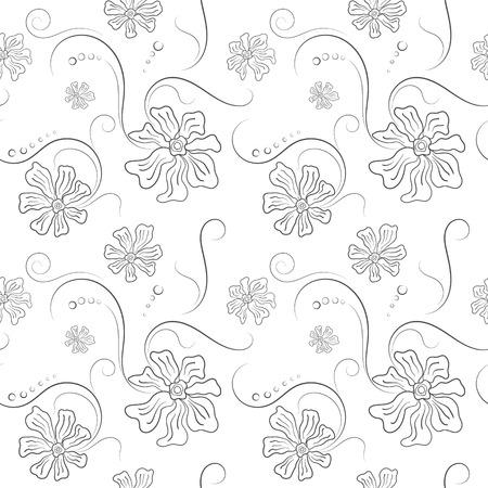 Seamless pattern on flower and texture background. Ilustração Vetorial