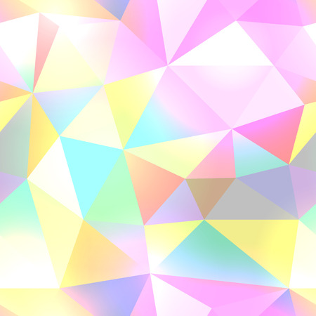 Seamless color polygon abstract background.