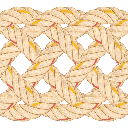 Seamless pattern with rope bending. Illustration