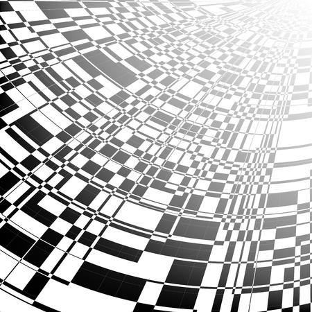 Schwarzer und perspektivischer abstrakter Hintergrund schreiben.