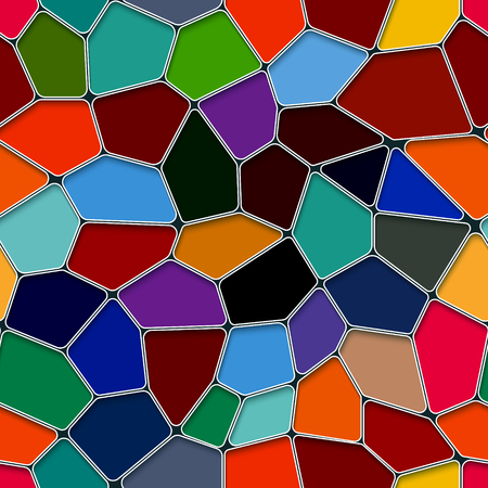 Pentagon polygon colourful design with seamless background. 向量圖像