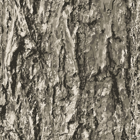 Texture bark shape with seamless background. Vetores