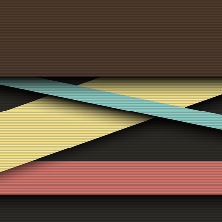 Dark color layers abstract vector background. Illustration
