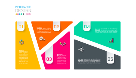Bar labels infographic with 5 steps. Banque d'images - 110023668