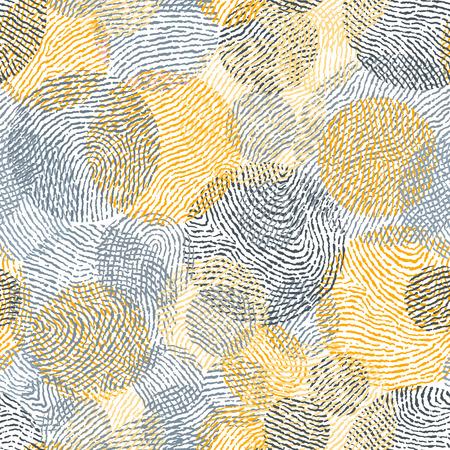 Fingerprint seamless background on square shape.