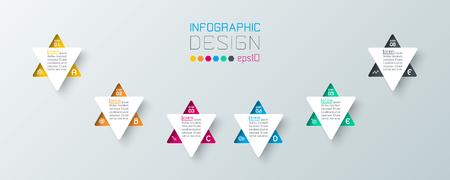Business infographic with 6 steps. Illusztráció