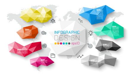 Bar labels infographic with 8 steps. Illusztráció