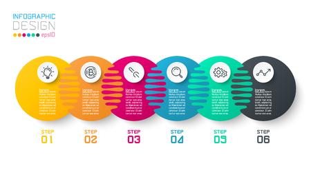 Sic harmonious circle infographics. Ilustração