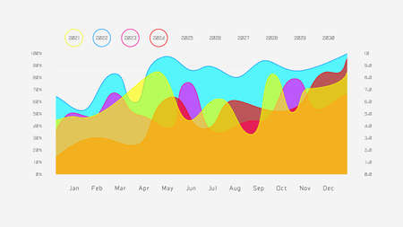 Vector graph wave has data that can use with statistics, research results, and conjecture. infographic design. Vektoros illusztráció