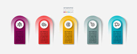 The label vector design can be used for communication through brochures, advertisements, or publicity by illustration infographic.