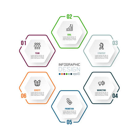 Business or marketing diagram infographic template. 版權商用圖片 - 167000903