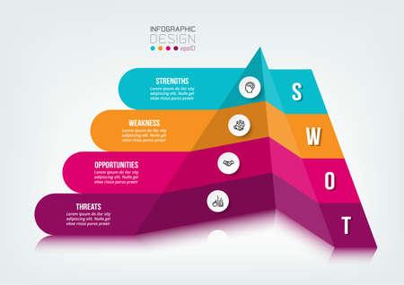 swot analysis business or marketing  infographic template. 版權商用圖片 - 167142225