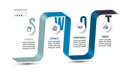 swot analysis business or marketing  infographic template. 版權商用圖片 - 167142234