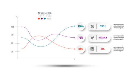 Business concept infographic template with percentage option.