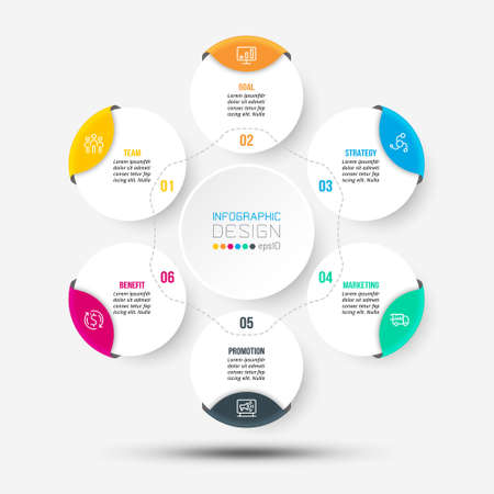 Business or marketing diagram infographic template.
