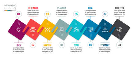 Infographic business template with step or option design.