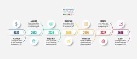 Timeline chart business infographic template. 版權商用圖片 - 167801873