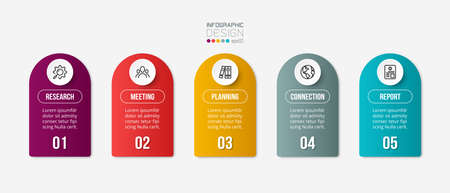 Infographic business template with step or option design. 版權商用圖片 - 167444515