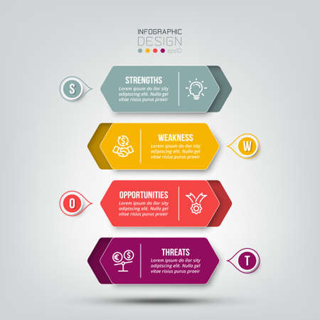 swot analysis business or marketing infographic template.