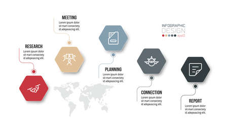 Business or marketing infographic template.