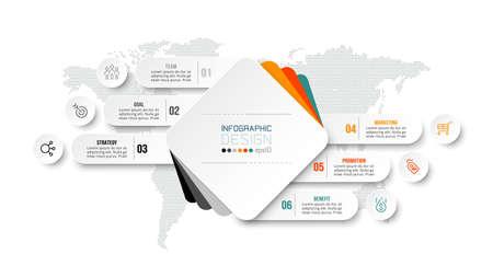 Business or marketing diagram infographic template. 版權商用圖片 - 167801948
