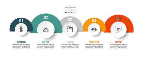 Infographic business template with step or option design. 版權商用圖片 - 167801951