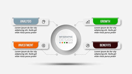 Business or marketing diagram infographic template. 版權商用圖片 - 167801952