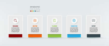 Business concept infographic template with option.