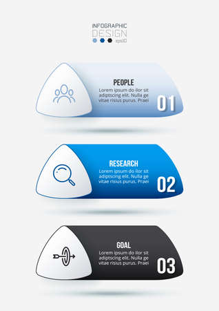 Business work flow  infographic template. 向量圖像