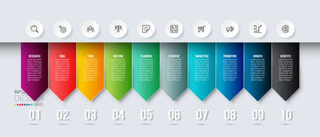Business infographic  template with step or option design. 向量圖像