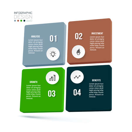 Business concept infographic template with diagram.