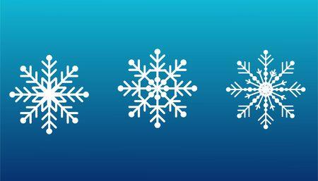 Snowflakes set on isolated blue Vektoros illusztráció