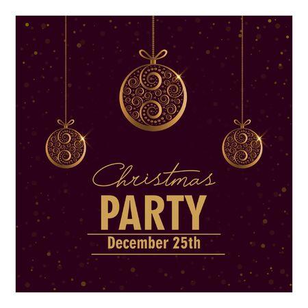 Biglietto d'invito per la festa di Natale.